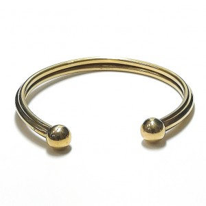 9ct Gold Ridged Torque Bangle