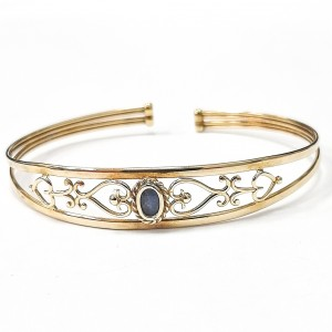 9ct Gold Opal Set Torque Bangle