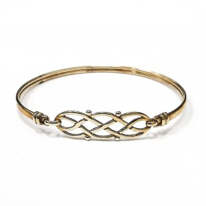 9ct Gold Celtic Fancy Top Bangle